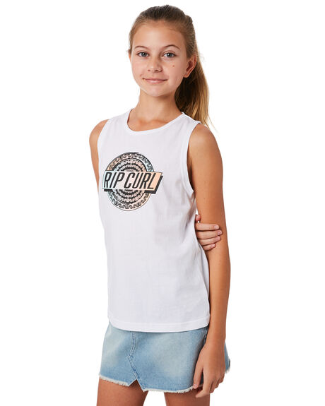 WHITE KIDS GIRLS RIP CURL TOPS - JTEDF11000