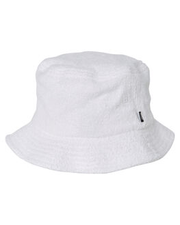 WHITE MENS ACCESSORIES STUSSY HEADWEAR - ST793004WHT
