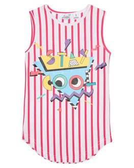 STRIPE KIDS TODDLER GIRLS KISSED BY RADICOOL DRESSES - KR0814STRP