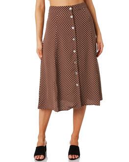 POLKA DOT WOMENS CLOTHING LULU AND ROSE SKIRTS - LU23814POLK
