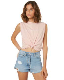 PASTEL PINK WOMENS CLOTHING AFENDS SINGLETS - W184085PNK