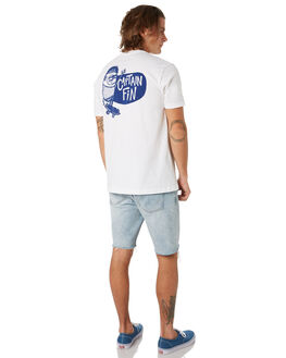 WHITE OUTLET MENS CAPTAIN FIN CO. TEES - CT193004WHT