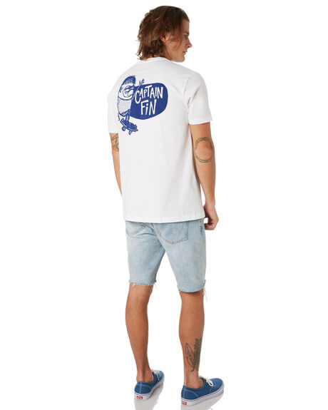WHITE MENS CLOTHING CAPTAIN FIN CO. TEES - CT193004WHT