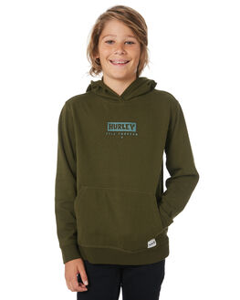 OLIVE CANVAS KIDS BOYS HURLEY JUMPERS + JACKETS - BJWF0002395