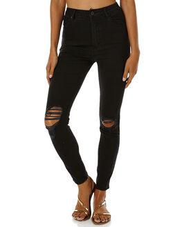 BUSTER BLACK WOMENS CLOTHING A.BRAND JEANS - 705271693