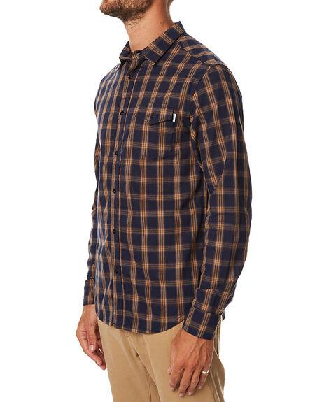 Rhythm Barkley Ls Mens Shirt Navy Surfstitch