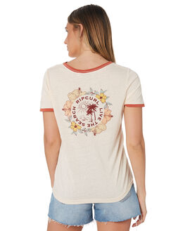 LIGHT PINK WOMENS CLOTHING RIP CURL TEES - GTEHU91764