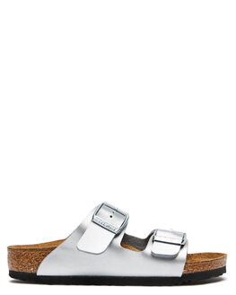 SILVER KIDS BOYS BIRKENSTOCK THONGS - 555133SILV