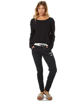 ANTHRACITE WOMENS CLOTHING ROXY PANTS - ERJFB03113KVJ0