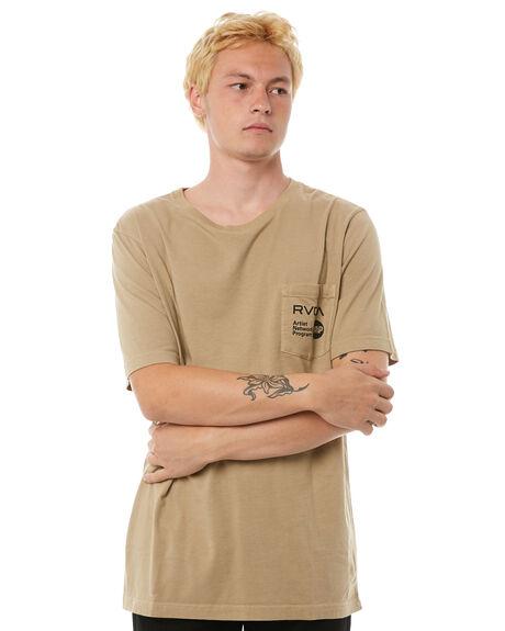 GOLDRUSH MENS CLOTHING RVCA TEES - R183056GRUSH