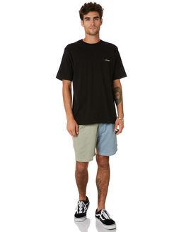 PASTEL COLOUR BLOCK MENS CLOTHING BARNEY COOLS SHORTS - 605-CC4PAST