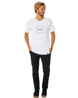 WHITE MENS CLOTHING HUF TEES - TS00507-WHITE