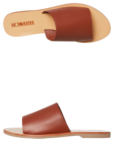 BURNT TAN WOMENS FOOTWEAR SOL SANA FASHION SANDALS - SS182S401BTAN