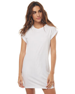 WHITE WOMENS CLOTHING SILENT THEORY DRESSES - 6061014WHT