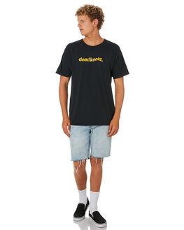BLACK MENS CLOTHING DEAD KOOKS TEES - DKSSTEE36BLK