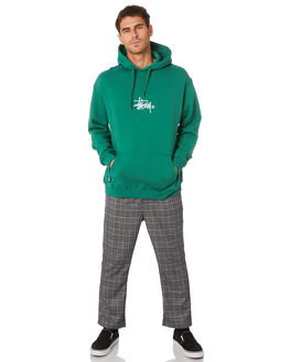 HUNTER GREEN MENS CLOTHING STUSSY JUMPERS - ST005203HNTGR