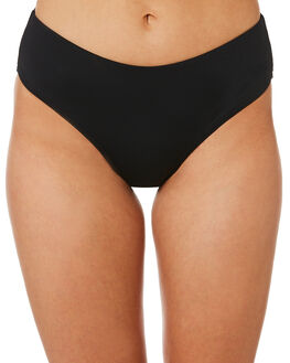 BLACK WOMENS SWIMWEAR SEA LEVEL BY NIPTUCK BIKINI BOTTOMS - SL4015PBLK
