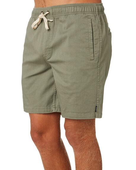 KHAKI GREEN MENS CLOTHING AFENDS SHORTS - M183361KHAG