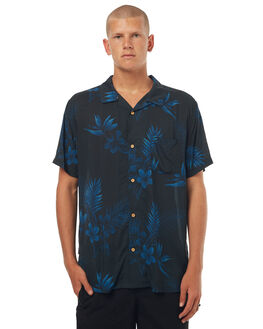 NAVY MENS CLOTHING STUSSY SHIRTS - ST072402NVY