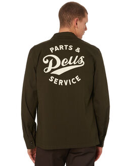 FOREST GREEN MENS CLOTHING DEUS EX MACHINA SHIRTS - DMW95017AFRGRN