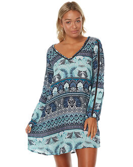 BLUE HIPPIE HOP WOMENS CLOTHING ROXY DRESSES - ERJWD03132BTK6