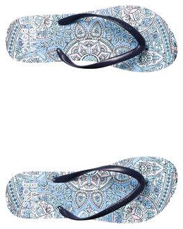 WHITE WOMENS FOOTWEAR BILLABONG THONGS - 6685801WHT