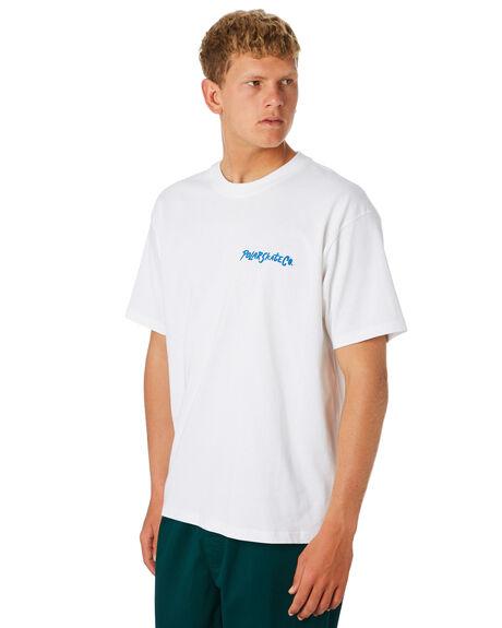 WHITE MENS CLOTHING POLAR SKATE CO. TEES - PSCQUEEN-WHT