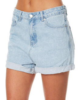 SEA BLUE WOMENS CLOTHING ASSEMBLY SHORTS - AS-W1618SEA