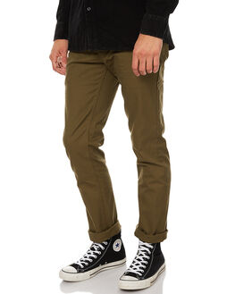 OLIVE MENS CLOTHING BRIXTON PANTS - 4044OLI
