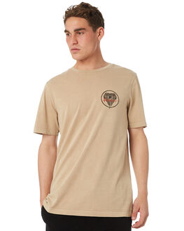 DUST YELLOW MENS CLOTHING RVCA TEES - R182096DTYEL