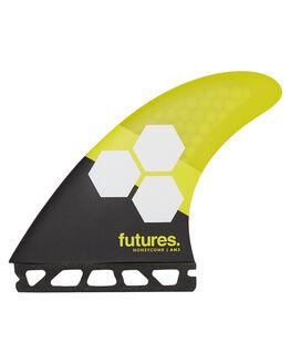 YELLOW SURF HARDWARE FUTURE FINS FINS - AM2-010308