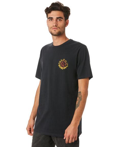 BLACK MENS CLOTHING VOLCOM TEES - A4341973BLK
