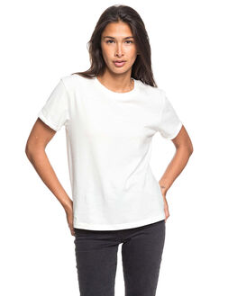 SNOW WHITE WOMENS CLOTHING ROXY TEES - ERJZT04844-WBK0