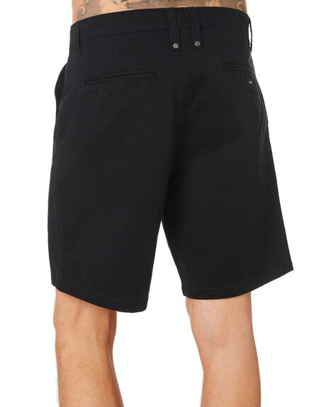 BLACK MENS CLOTHING THRILLS SHORTS - TH9-316BBLK
