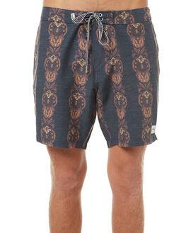 GREY NAVY MENS CLOTHING RHYTHM BOARDSHORTS - OCT17M-TR01-GRY