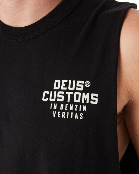 BLACK MENS CLOTHING DEUS EX MACHINA SINGLETS - DMP91146BLK