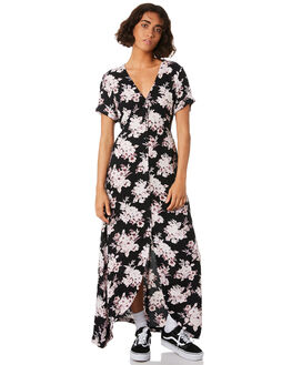 BLACK COMBO WOMENS CLOTHING VOLCOM DRESSES - B13218S0BLC
