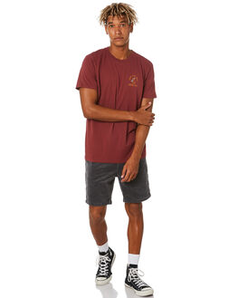 DARK RED MENS CLOTHING KATIN TEES - TSPRA06DKRD