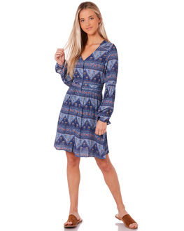 BLUE WOMENS CLOTHING SWELL DRESSES - S8183452BLUE
