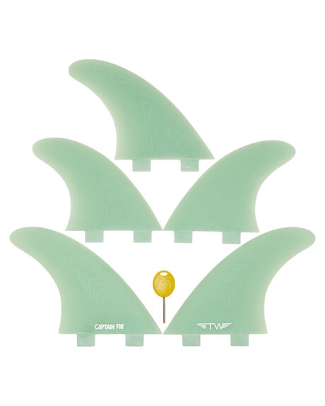 TEAL BOARDSPORTS SURF CAPTAIN FIN CO. FINS - CFF4411833TEA