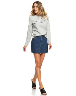 HERITAGE HEATHER WOMENS CLOTHING ROXY JUMPERS - ERJFT03944-SGRH