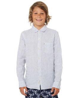 WHITE BLUE KIDS BOYS ACADEMY BRAND TOPS - B19S865WHTBU