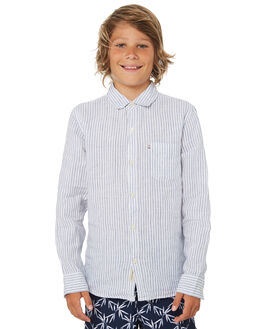 WHITE BLUE OUTLET KIDS ACADEMY BRAND CLOTHING - B19S865WHTBU