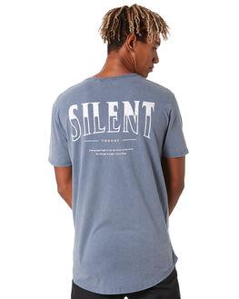 DENIM BLUE MENS CLOTHING SILENT THEORY TEES - 4053020DEN