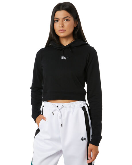 BLACK WOMENS CLOTHING STUSSY JUMPERS - ST195102BLK