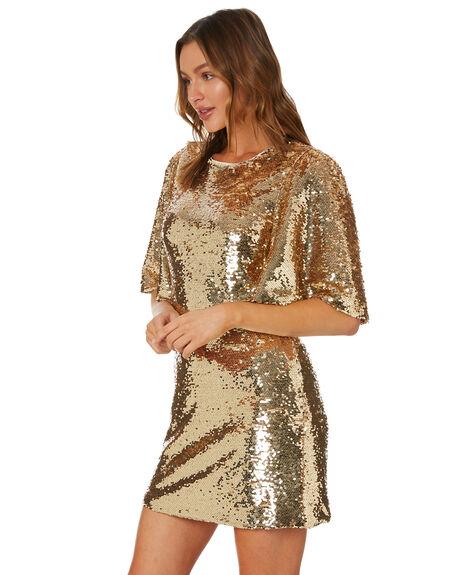 LIGHT GOLD WOMENS CLOTHING MINKPINK DRESSES - MP2006950LTGLD