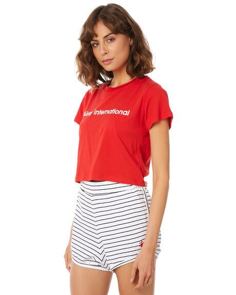 RED WOMENS CLOTHING STUSSY TEES - ST182002RED