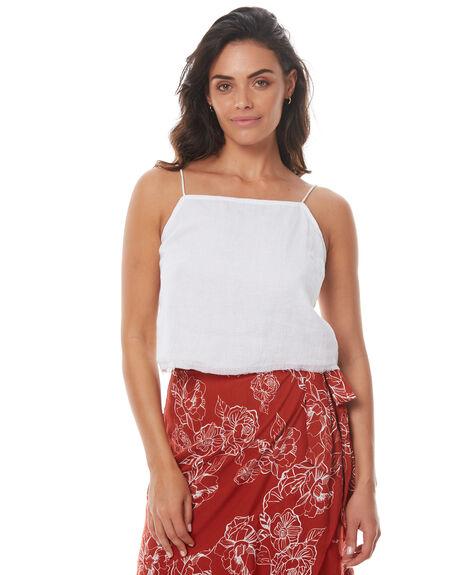 WHITE WOMENS CLOTHING RUE STIIC FASHION TOPS - SO1714LWHT