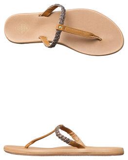 DARK TAN METALLIC WOMENS FOOTWEAR FREEWATERS FASHION SANDALS - WO-035DKTAN