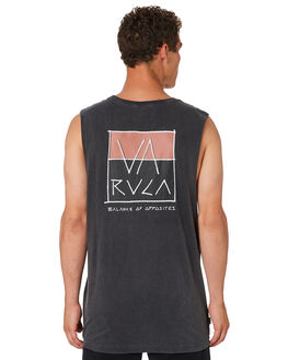 BLACK ACID MENS CLOTHING RVCA SINGLETS - R182015BKACD
